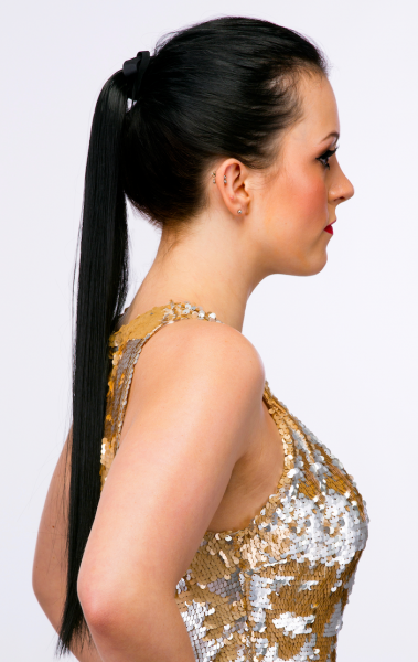 tie-in straight ponytail