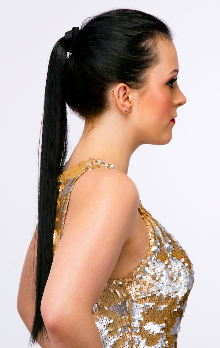 tie-in straight ponytail