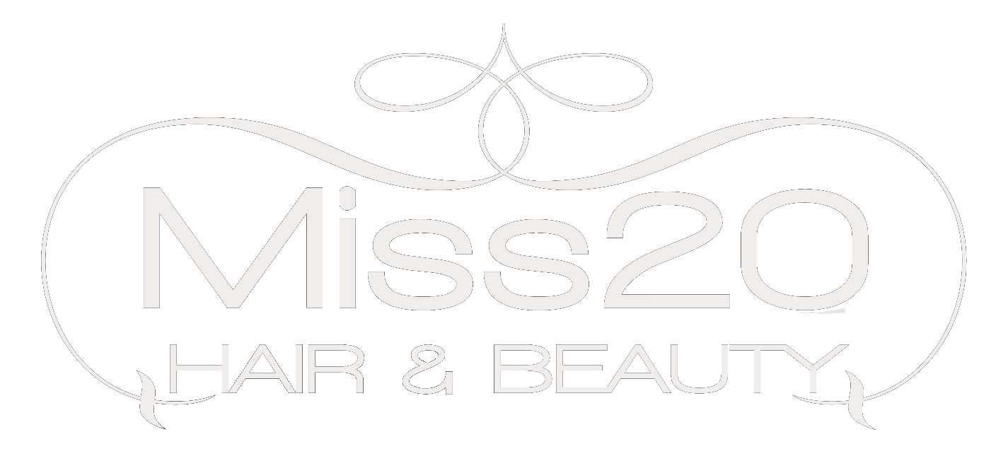 Miss20 white text logo blank background